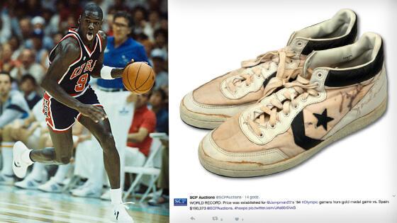 8a63a755f Mocno sfatygowane buty Michaela Jordana z jego autografem zostały sprzedane  na aukcji za 190 373 dolarów. To rekord za koszykarską pamiątkę.