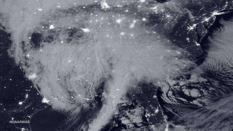 Burza śnieżna widoczna z Kosmosu