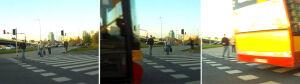"""Miejskim autobusem """"wali rozganiając pieszych"""""""
