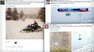 Zima w środku lata. Dwa amerykańskie stany przykrył śnieg