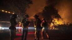 Ogień trafi Kalifornię (PAP/EPA/PETER DASILVA)