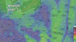 Porywy wiatru w kolejnych dniach (Ventusky.com) | wideo bez dźwięku