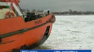 Lodołamacze walczą z krą (TVN24)